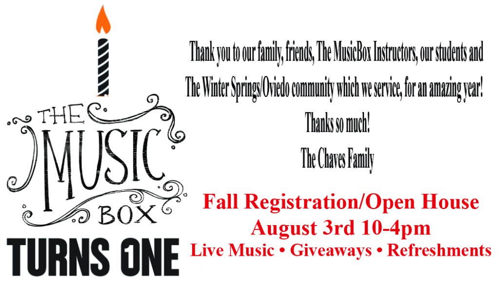 The MusicBox Turns 1!!!!